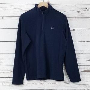 Vineyard Vines   Navy 1/4 Zip Fleece Pullover